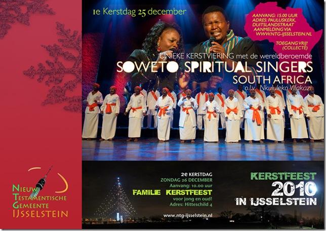 KERSTFEEST 2010 MET DE soweto spiritual singers ijsselstein